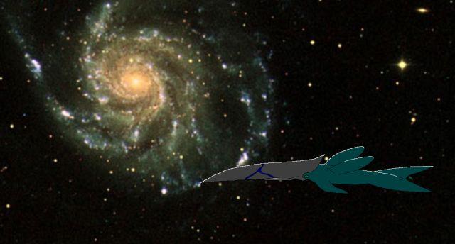 宇宙を行く鯨  CG