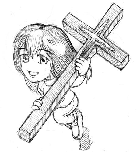 十字架を振るう神の使徒  CG