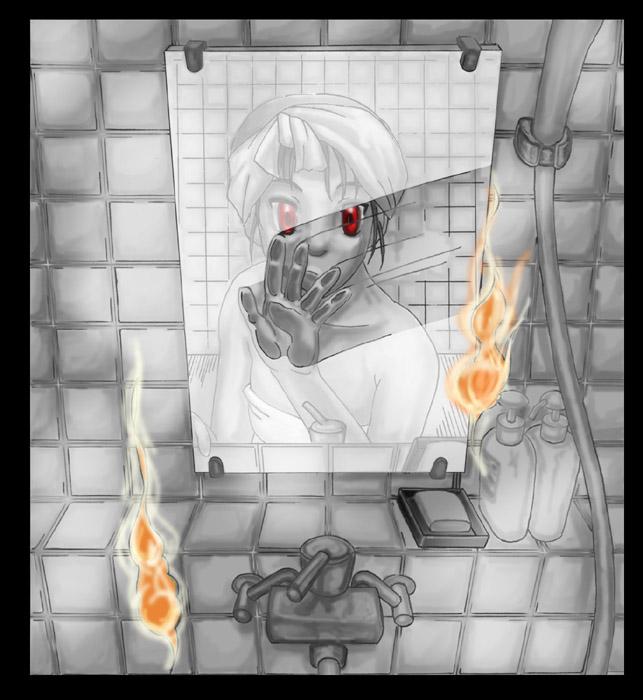 風呂場の幽霊  CG