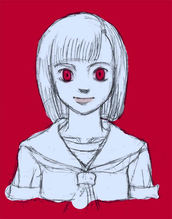 赤に浮かぶ勇那  CG