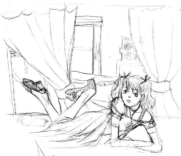 寝そべるつみき  CG