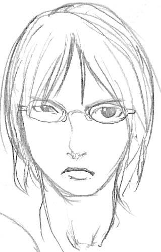 どうせ伸ばされるのに髪を切った青九郎  CG