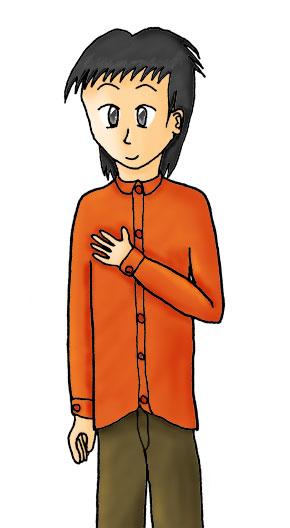 赤シャツの裕雄  CG