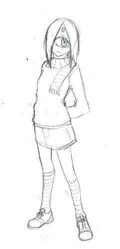 フルフェイスヘルム少女ひとめ:変身前(間違いではない)  CG
