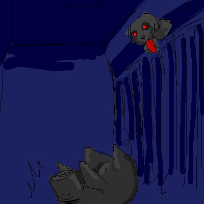 黒豚 落つ  CG
