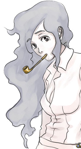 しろいけむり:煙山園子 CG