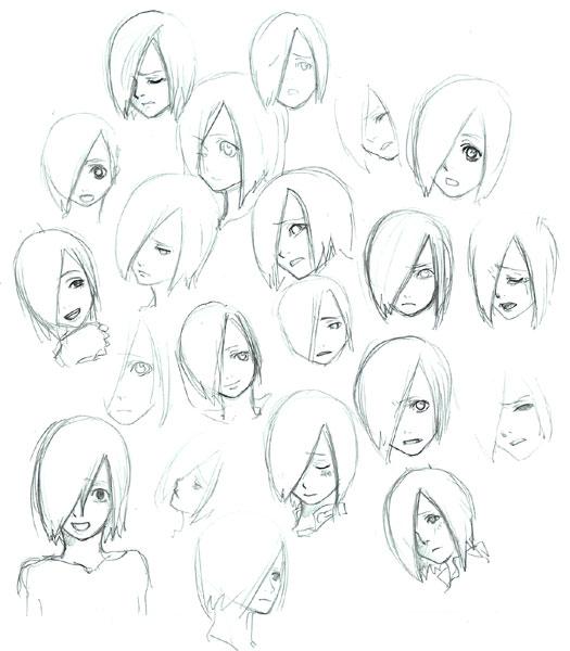 ひとめ表情ラフ  CG