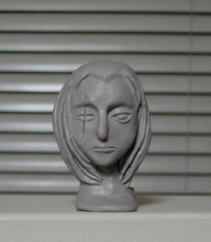渋柿 首像 : 正面  CG