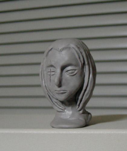 渋柿 首像 : 斜め前  CG