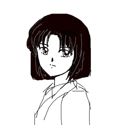 奈々マウスラフ画  CG