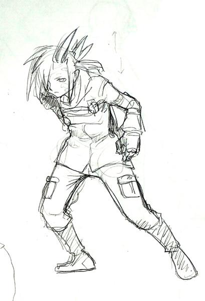 エージェント雹ラフ  CG