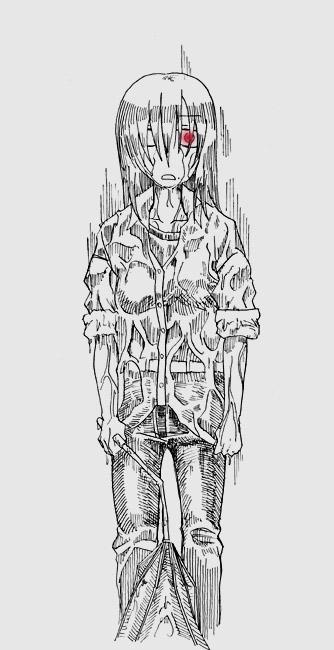 水濡れ美女  CG