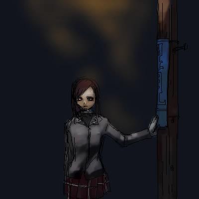 深夜。徘徊する骸骨。  CG