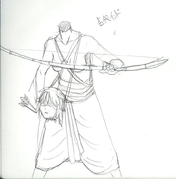 イーファ鎧案 #5 古代インド歩兵  CG