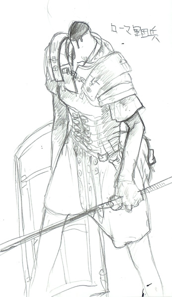 #9 ローマ軍団兵(後一世紀)  CG