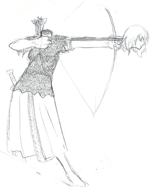 イーファ鎧案 #13 サジタリウス(重装補助軍弓兵)  CG