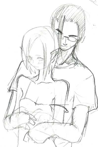 セイとリャナ ラフ  CG