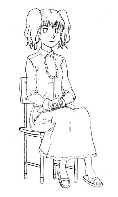生徒会長の肖像  CG