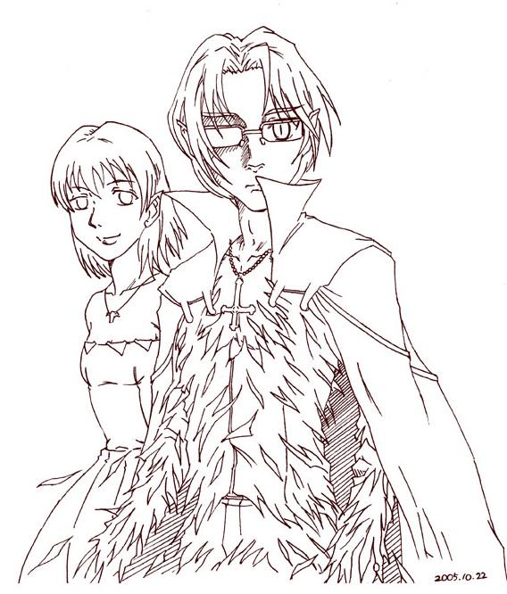 金眼と宵姫  CG