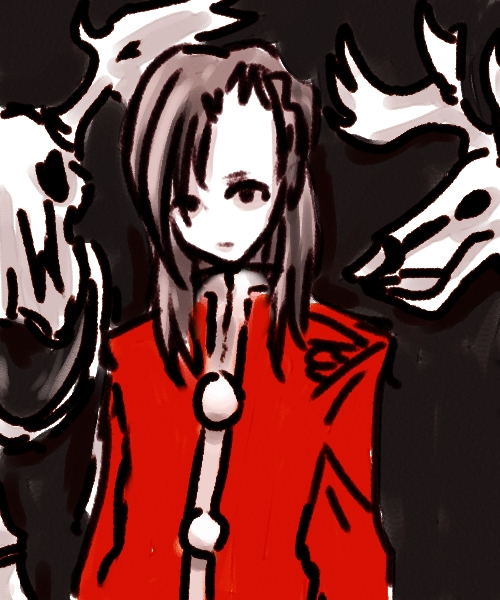 赤服の骸骨  CG