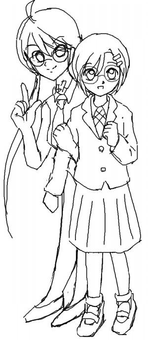 ノナと葛海  CG