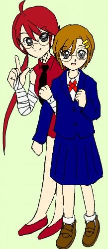 ノナと葛海 カラー  CG