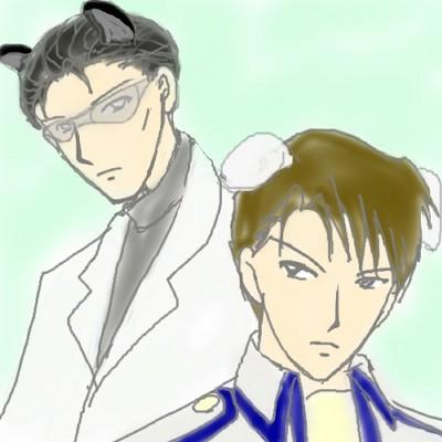 ピレネー司令とドーベルマン博士  CG
