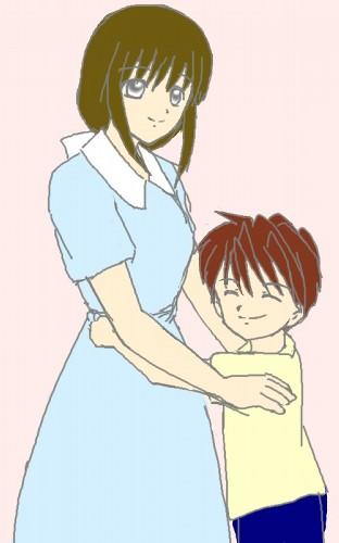 ちびもとみーとお母さん  CG