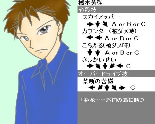 橋本芳弘キャラ性能、技つき CG