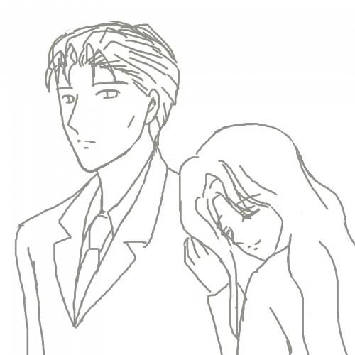 東夫妻、肩にもたれる CG