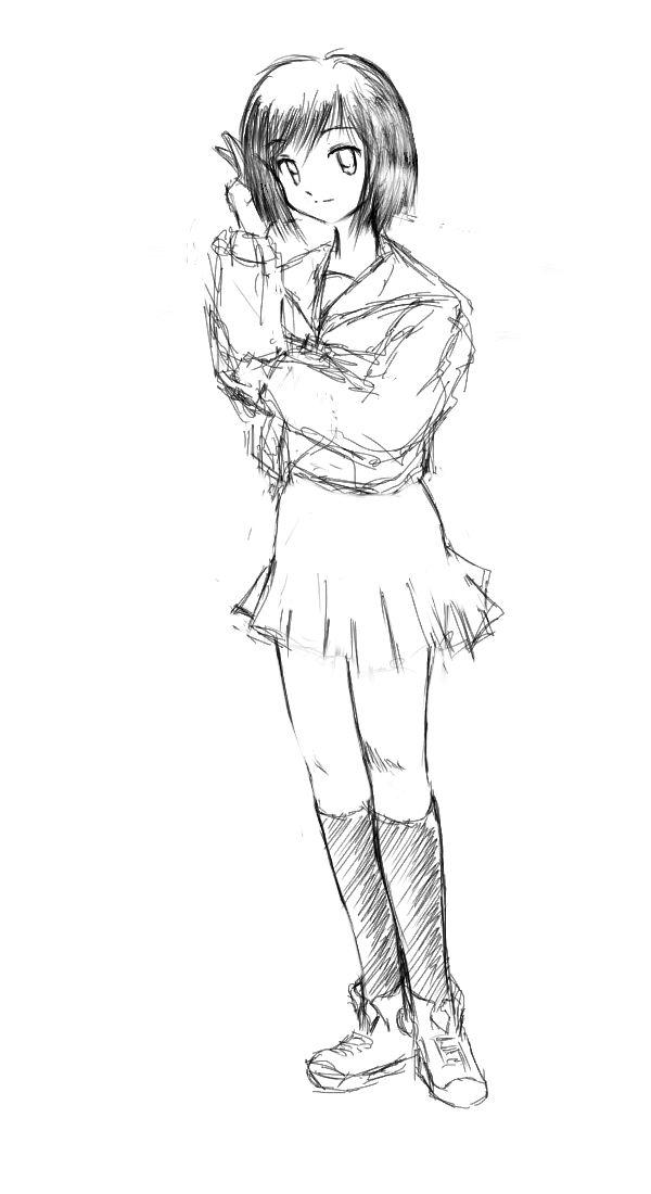 渚さん 初描き  CG