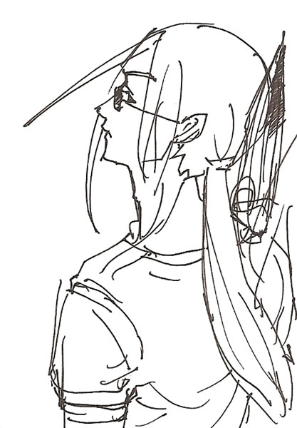 斧をかついだ青九郎  CG