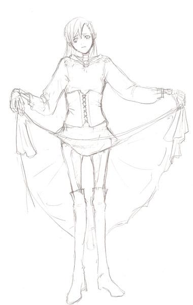 新しい服のサトミ(2)ラフ  CG