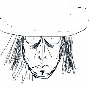 夜の男:顔ラフ  CG