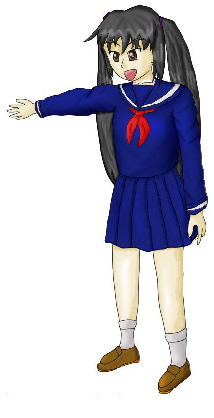 無事に中学校入学しました 着色  CG