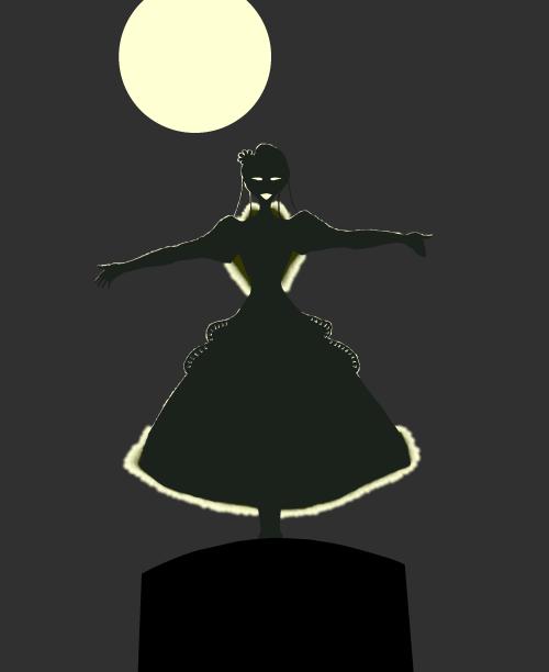 夜の女王  CG