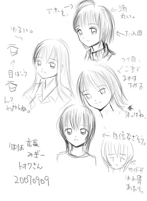 描き分けの練習  CG
