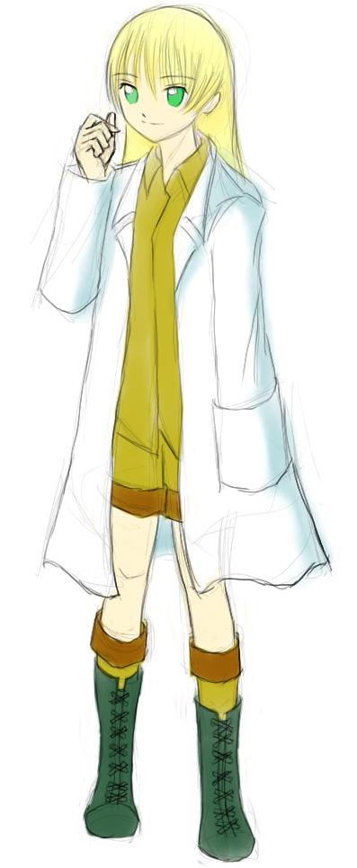ジャングル白衣  CG