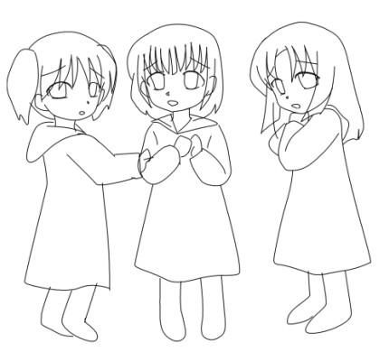 魔女子三人  CG