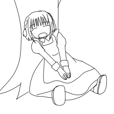 萌え記号「寝顔」 CG