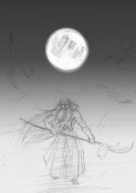 月夜のよる孫を奪われる恐怖に血迷ったお爺ちゃん CG