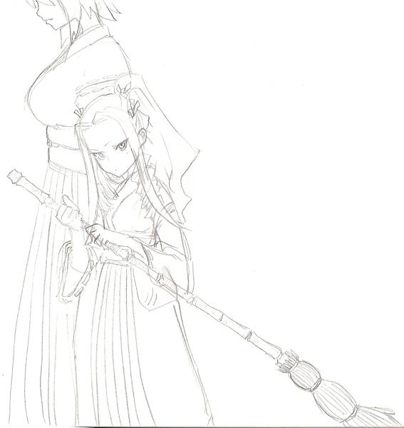 九十九神社の新人巫女 CG