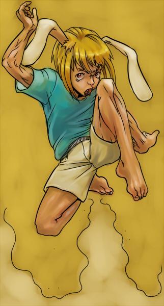 「これが蹴りというものです。」  CG