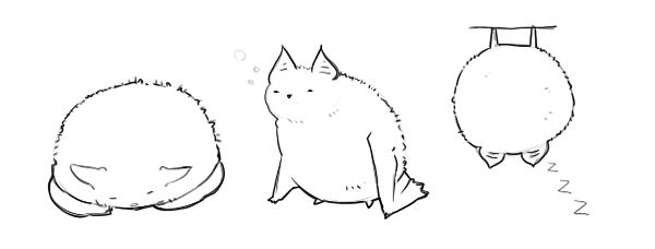 猫みたいな蝙蝠。  CG