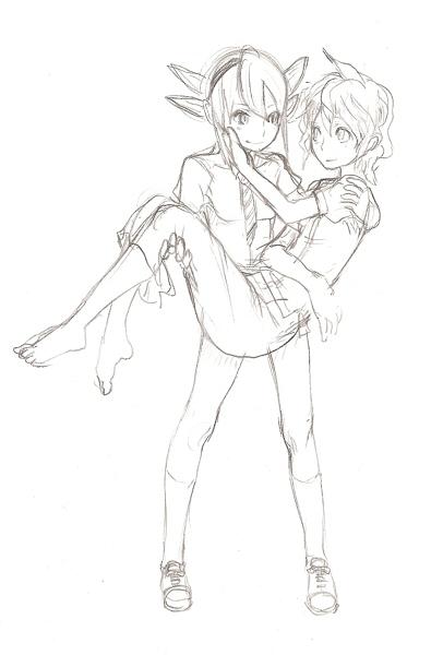 お姫様抱っこ  CG