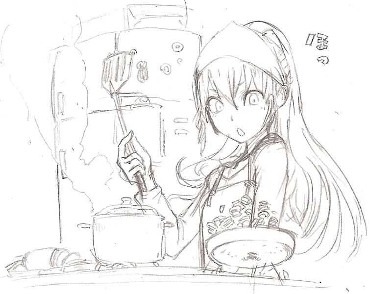 お料理がんばってます! CG