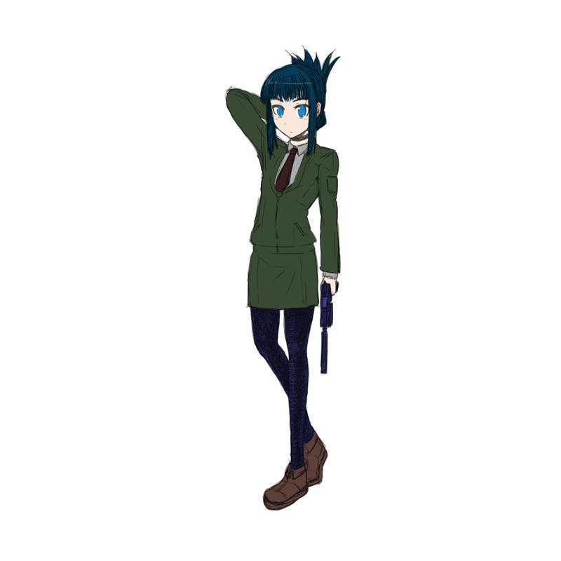 藍理、妹・伊織いめーじ CG