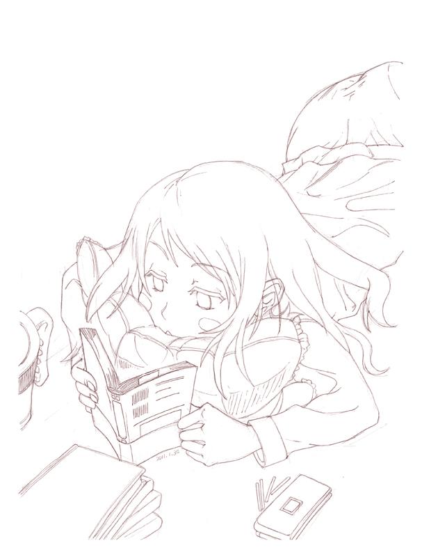 寝ながら読書 CG