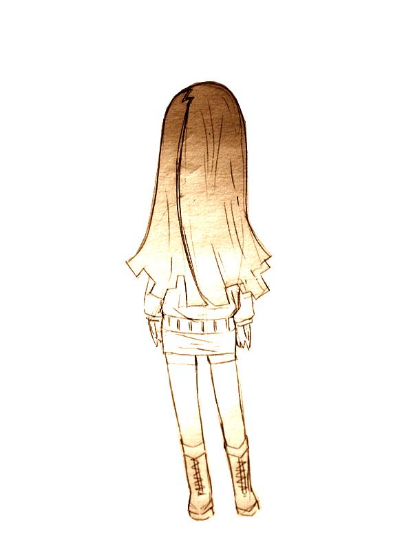 上半身髪の毛  CG