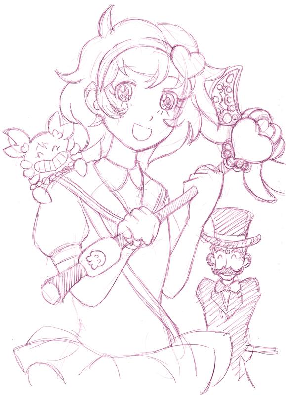 魔法少女ファンシー・トリ(J) CG